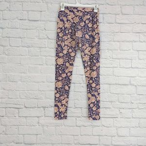 LulaRoe | Leggings OS Purple/Cream/Perriwinkle